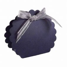 Navy Blue Scalloped Clam Designer Favour Boxes